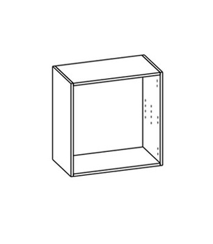 Гостиные Шкаф настенный со стеклом за 6 481 руб
