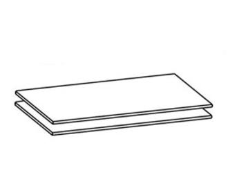 Полки и стеллажи Комплект полок для шкафа А-3К (2 шт.) за 1 149 руб