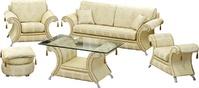 Комплекты мягкой мебели «Наполеон» - диван, кресло, пуф за 76000.0 руб