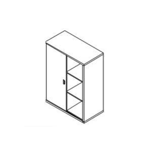 Мебель для персонала Стеллаж средний с раздвижной дверью за 13 802 руб