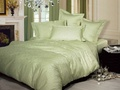 Однотонное постельное белье «Нежность», олива Евро