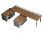 Столы и стулья Рабочая станция (2х160) с ProSystem на 2-х опорных тумбах левых за 67434.0 руб