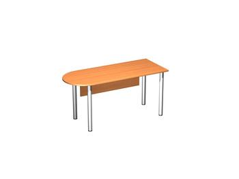 Письменные столы Стол письменный полукруглый на хромированных опорах МХ с экраном ДСП за 6 831 руб