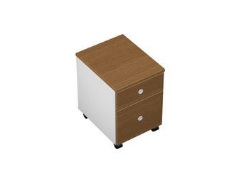 Тумбы Тумба выкатная 2-ящичная М (1 файловый ящик)с замком и лотком за 7 535 руб