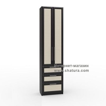 Гостиные Флоренция Шкаф с 3мя ящиками гл. 420 (венге/дуб) за 13 040 руб