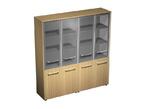 Офисная мебель Шкаф для документов со стеклянными дверьми (стенка из 2 шкафов) за 97644.0 руб