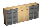 Офисная мебель Шкаф комбинированный средний(стекло - закрытый - стекло) за 86601.0 руб