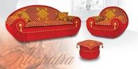 Мягкая мебель Клеопатра - диван, кресло, пуф за 88000.0 руб