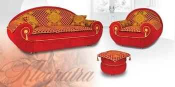 Комплекты мягкой мебели Клеопатра - диван, кресло, пуф за 88 000 руб