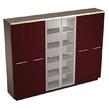 Шкаф комбинированный (закрытый- стекло- одежда), бордо за 170872.0 руб