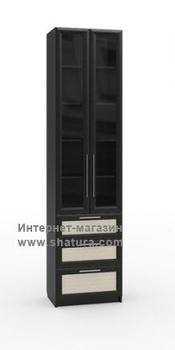 Гостиные Бирма Шкаф с 3мя ящиками стекло (венге/дуб) за 12 120 руб