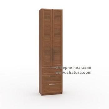 Гостиные Бирма Шкаф с 3мя ящиками фасад (орех) за 13 040 руб