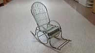 """Кресло-качалка """"Стандарт"""" с плетеным сиденьем за 6000.0 руб"""