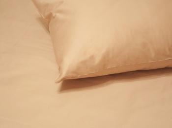 Постельное белье Однотонное постельное белье «Moka Satin»  Семейный за 4 000 руб