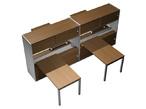 Офисные столы Рабочая станция (4х140) на 2-опорных тумбах-купе с ProSystem левой/правой с надстройками-купе за 160036.0 руб