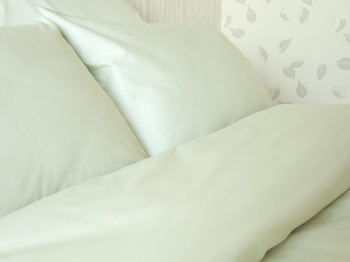 Постельное белье Однотонное постельное белье «Oliva» 1.5-спальный за 2 850 руб