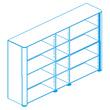Офисная мебель Стеллаж высокий, топ и боковины в отделке шпоном за 358643.7 руб