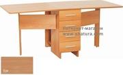 Раскладные столы Стол-книжка Глория 606 (4 ящика) бук за 5590.0 руб