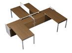 Столы и стулья Рабочая станция (4x120) на 2-x опорных тумбах-купе за 101483.0 руб