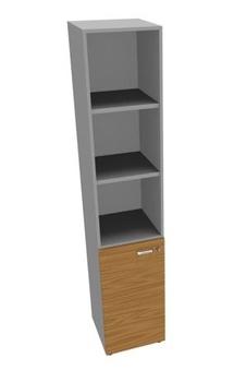 Мебель для персонала Шкаф высокий, узкий с низкой дв, 3 полки за 29 651 руб