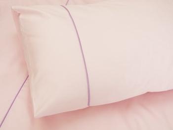 Постельное белье Однотонное постельное белье «Pink Satin» deco  1.5-спальный за 2 900 руб
