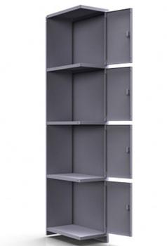 Сейфы и металлические шкафы Шкаф для личных вещей 1-секционный ШСМ-014 зм, дополнительная секция за 4 806 руб