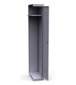 Сейфы и металлические шкафы Шкаф для одежды 1-секционный ШСМ-011 зм с полкой под головной убор, дополнительная секция за 3 198 руб