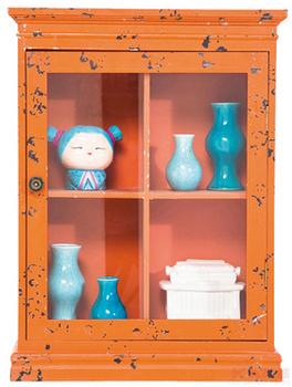 Буфеты и витрины Бар подвесной Cabinet Little Something, оранжевый за 7 800 руб