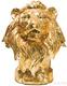 Объект декоративный Head Lion Crackle Gold