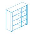 Офисная мебель Стеллаж высокий, топ и боковины в отделке натуральной кожей за 255825.0 руб