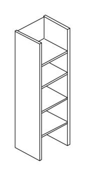 Мебель для персонала Стеллаж высокий без верхнего и нижнего горизонтального щита за 4 428 руб