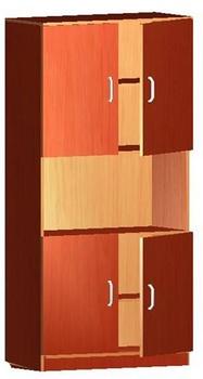 Мебель для персонала Шкаф книжный 4-х дверный за 4 725 руб