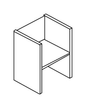 Мебель для персонала Стеллаж низкий без верхнего и нижнего горизонтального щита за 1 816 руб