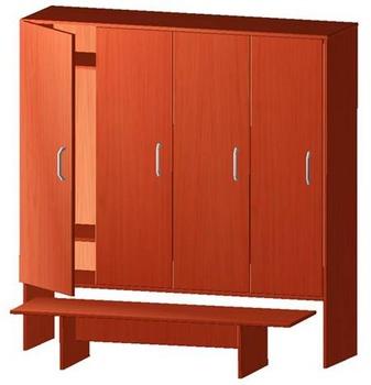 Корпусная мебель Шкаф детский для одежды, со скамьей за 5 870 руб