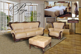 Комплекты мягкой мебели Роза за 60000.0 руб