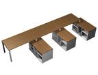 Столы и стулья Рабочая станция (3х160) на 3-х опорных тумбах правых за 68951.0 руб