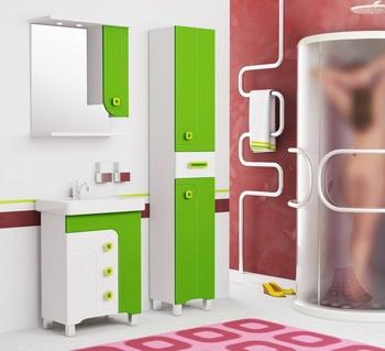 Шкафы ЛУИДЖИ 60С Шкаф-зеркало зеленый за 5 350 руб