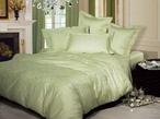 Однотонное постельное белье «Нежность», олива 1.5-спальный за 3600.0 руб