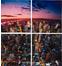 Картина Downtown 60x60см (в наборе 4 шт)