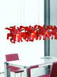 Светильник подвесной Origami C4, красный за 40700.0 руб