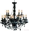 Светильник подвесной Gioiello Crystal, 14 плафонов, чёрный за 36900.0 руб