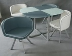 Обеденные столы Стол DT327 + Стул DC01 (4шт) за 23590.0 руб