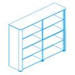 Офисная мебель Стеллаж высокий, топ и боковины в отделке натуральной кожей за 293994.1 руб