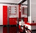 Мебель для ванной КРОСС (70) Шкаф-зеркало навесной красный (Люкс) за 6900.0 руб