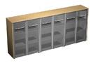 Шкаф для документов со стеклянными дверьми (стенка из 3 шкафов)