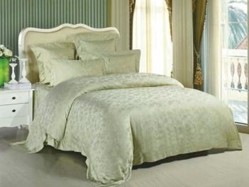 Постельное белье Однотонное постельное белье «Tencel Oliva» Семейный за 8 000 руб