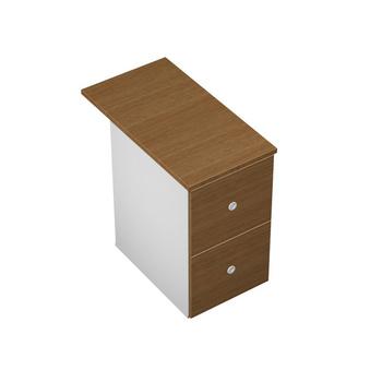 Тумбы Тумба приставная 2-ящичная М (2 файловых ящика) с крышкой замком и лотком за 8 880 руб