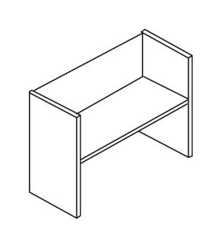 Мебель для персонала Стеллаж низкий без верхнего и нижнего горизонтального щита за 2 114 руб