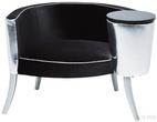 Мебель для баров и ресторанов Кресло клубное Philoma, серебристо-чёрное за 46200.0 руб