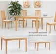 Столы и стулья Стол обеденный трансформер Benson 120  дуб белый за 23590.0 руб